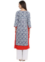 Spoorthi Women's Rayon Embroidered Layered Kurta