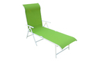 Folding Pool Lounger - Metal - Green