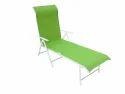 Folding Pool Lounger - Metal - Green