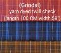 Yarn Dyed Twill Check Fabric ( Grindal)