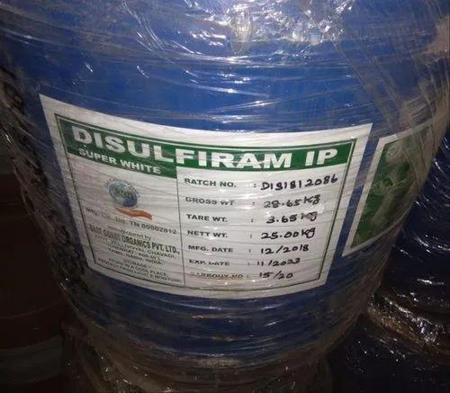 Disulfiram IP, for Commerical, 25 Kgs