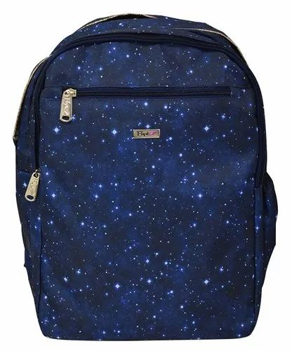 Female Printed Navy Blue School Bag