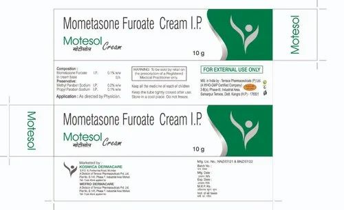 Motesol Cream 10g, Packaging Type: Tube
