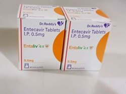 Entecavir Tablets IP 0.5 Mg, Prescription, Packaging Type: Box