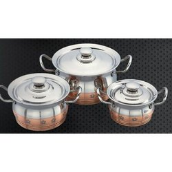 Economy Copper Line Skoda Serving Bowl Set
