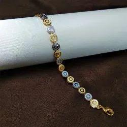 Brass Ladies Artificial Jewellery Two-Tone Bracelet