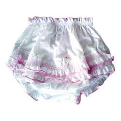 Available In Various Colors Cotton Designer Baby Bloomer
