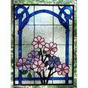 Flower Window Glass