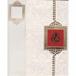 Rectangular Paper Hindu Wedding Invitation Card