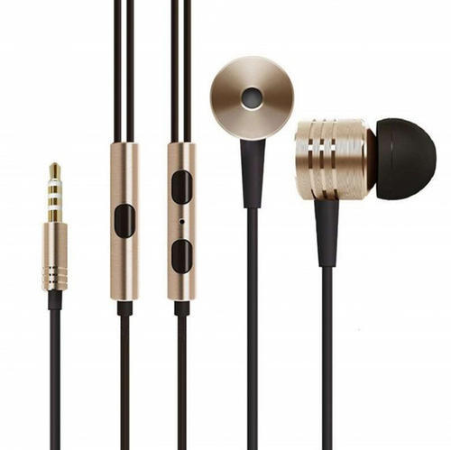 With Microphone Piston Brown Head Phone