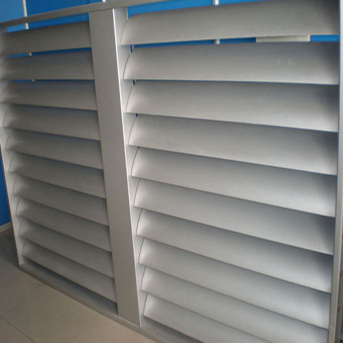 Light Industrial Construction Cost Per Square Foot: Aluminum Fixed Louver At Rs 220 /square Feet
