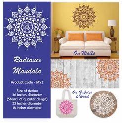 Radiance Mandala Wall Stencil