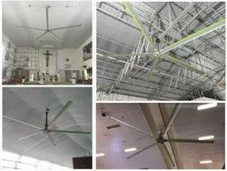 Silver Anodised Industrial HVLS Fans Manufacturers, Phase: Single / Three