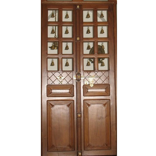 Brown Pooja Room Flush Door Rs 135 square feet Umiya Enteprises