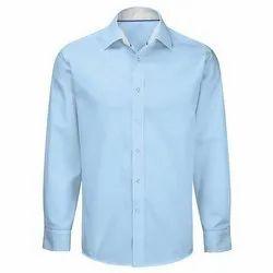 Plain Long Sleeve Mens Cotton Shirts, Size: M to XXL