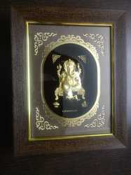 Ganesh Gold Leaf Frame 24 Kt