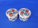 Round White Marble Set Of 2  Pieces Ring Box