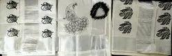 Black Festive Wear Silver Tissue Block Print Saree