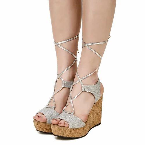 Silver Wedges Sandal