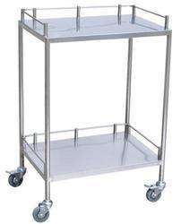 TGPE Stainless Steel Surgical Instrument Trolley, Size: Standard