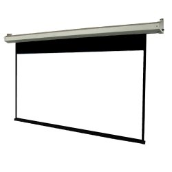 Wall Mount White Electric Projector Screen, 84-92 Inch