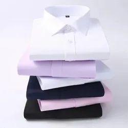 Cotton Collar Neck Mens Plain Shirts