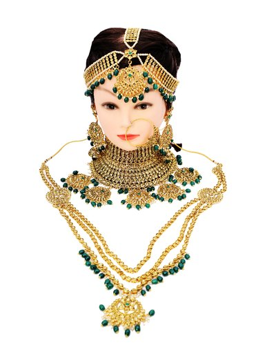 Brass Bridal Jewelry Set, Size: Free