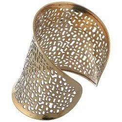 Indian Wedding Metal Bangle Traditional Party Wear Bracelet Curved Design