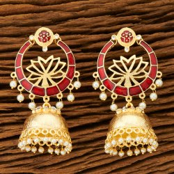 Handmade Indo Western Jhumki Earring with Gold Plating 100277