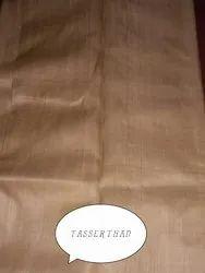 PM Plain Tussar Silk Fabric