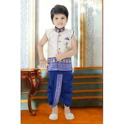 Kids Blue Indo Western Sherwani