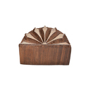 Semi Circle Shape Wooden Henna Printing Blocks