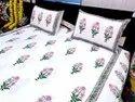 Sanganeri Block Printed Bedsheet