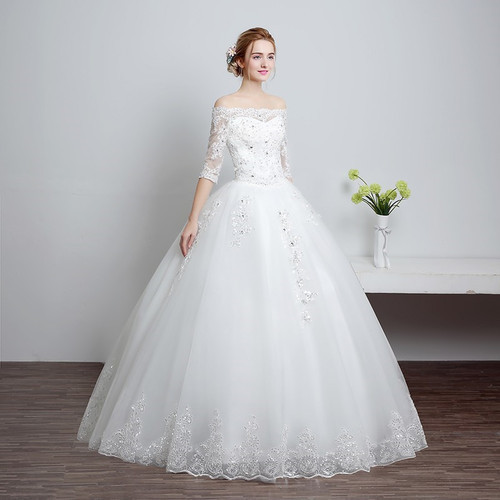 Christian Wedding Gown: Tulle And Imported Christian Wedding Gown /Catholic Gowns