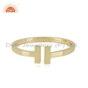 18k Gold Plated Designer 925 Silver Bangle