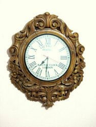 Ajanta White Wooden Clock for Home