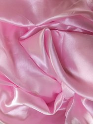 PLAIN PINK POLYESTER SATIN, For Garments, GSM: 100-150 GSM