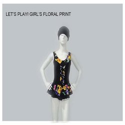 Floral Print Girl's Swimwear