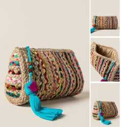 Jute and chindi Bag