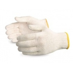 40gms White Cotton Knitted Hand Gloves