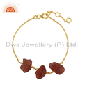 Sun Stone Gemstone Wholesale Gold Plated Silver Chain Bracelets