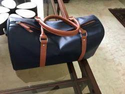 Plain Leather Duffle Bag