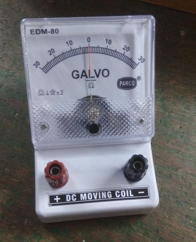 Galvanometer 30 0 30 Moving Coil (edm 80) Mounted On Stand