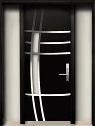 Black Stylish Wooden Door