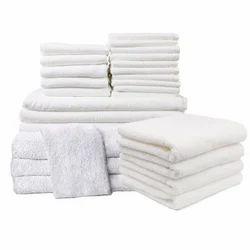 Mauria Microfiber White Bath Hotel Towel, Rectangular, Size: 28 X 55 Inch