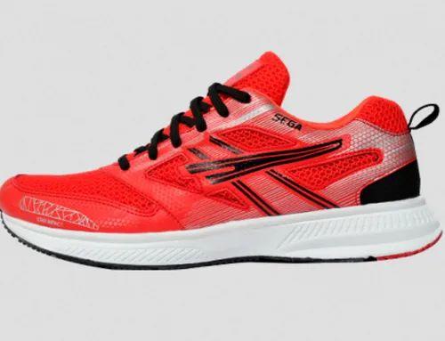Men Running Shoes Sega Sports Shoes Red