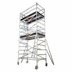 Aluminum Double Platform Scaffolding Ladder
