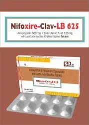 Amoxycillin 500 mg   Clavulanic Acid 125mg   Lactic Acid Baccillus 60 Million Spores