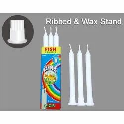 Ribbed Wax Stand Candles