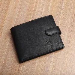 LWFM00259 Black Genuine Leather Mens Wallet